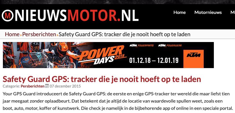GPS tracker die je nooit hoeft op te laden