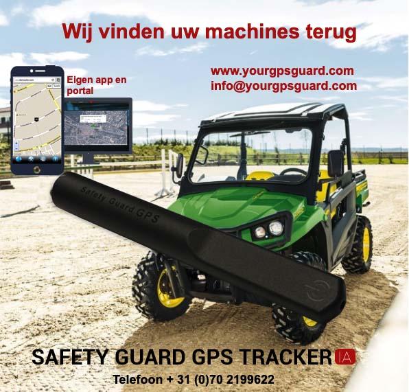 John Deere Gator met Dantracker GPS